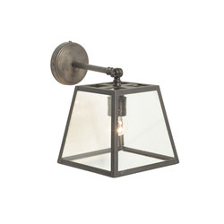 7636 Quad Wall Light Internally Glazed, Weathered Brass, Clear | Éclairage général | Davey Lighting Limited