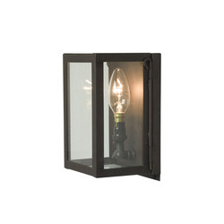 7643 Miniature Box Wall Light, Internal Glass, Weathered Brass, Clear Glass | Éclairage général | Davey Lighting Limited