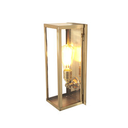 7650 Narrow Box Wall Light, Internal Glass, Polished Brass, Clear Glass | Éclairage général | Davey Lighting Limited