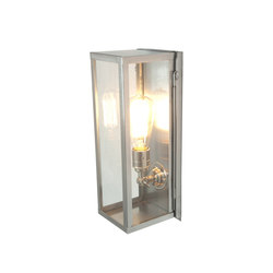 7650 Narrow Box Wall Light, Internal Glass, Satin Nickel, Clear Glass | Allgemeinbeleuchtung | Davey Lighting Limited