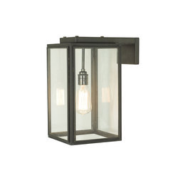 7656 Small Portico Wall Light Weathered Brass, Clear Glass | Illuminazione generale | Davey Lighting Limited