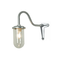 7672 Bracket Light, 100W, Corner, Swan Neck, Galvanised, Clear Glass | Illuminazione generale | Davey Lighting Limited