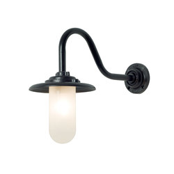 7677 Exterior Bracket Light, 60W, Swan Neck, Painted Black, Frosted Glass | Iluminación general | Davey Lighting Limited