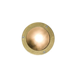 8034 Miniature Exterior Bulkhead, Plain Bezel, G9, Brass | General lighting | Davey Lighting Limited