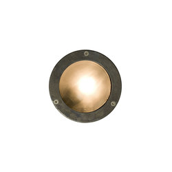 8034 Miniature Exterior Bulkhead, Plain Bezel, G9, Weathered Brass | Éclairage général | Davey Lighting Limited