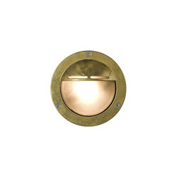 8035 Miniature Exterior Bulkhead, Eyelid Shield, G9, Brass | General lighting | Davey Lighting Limited