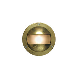 8037 Miniature Exterior Bulkhead, Double Shield, G9, Brass | General lighting | Davey Lighting Limited