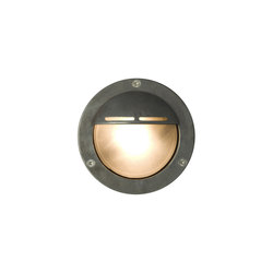 8035 Miniature Exterior Bulkhead, Eyelid Shield, G9, Weathered Brass | General lighting | Davey Lighting Limited