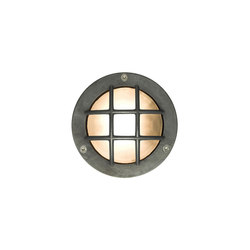 8038 Miniature Exterior Bulkhead, Cross Guard, G9, Weathered Brass | Allgemeinbeleuchtung | Davey Lighting Limited