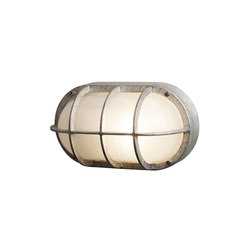 8122 Oval Aluminium Bulkhead With Guard, E27, Aluminium | Allgemeinbeleuchtung | Davey Lighting Limited