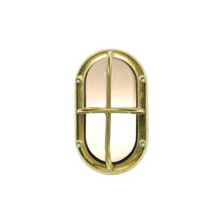 8123 Small Exterior Bulkhead Fitting, Brass | Éclairage général | Davey Lighting Limited