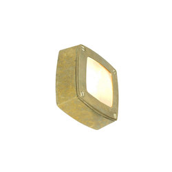 8139 Wall Light Square, Plain Bezel, Brass | General lighting | Davey Lighting Limited