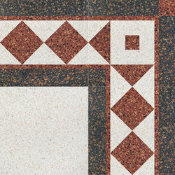 Carnevale Veneziano Smeraldina | Floor tiles | Petracer's Ceramics
