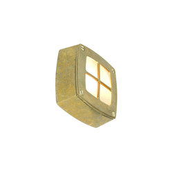 8140 Wall Light Square, Cross Guard, Brass | Allgemeinbeleuchtung | Davey Lighting Limited
