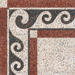 Carnevale Veneziano Pulcinella | Floor tiles | Petracer's Ceramics