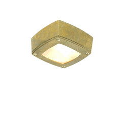 8139 Ceiling Light Square, Plain Bezel, Brass | General lighting | Davey Lighting Limited