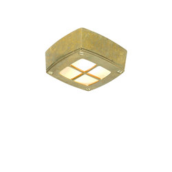 8140 Ceiling Light Square, Cross Guard, Brass | General lighting | Davey Lighting Limited