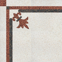 Carnevale Veneziano Colombina | Floor tiles | Petracer's Ceramics