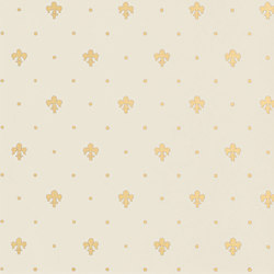 Grand Elegance Gold giglio oro su panna | Wall tiles | Petracer's Ceramics