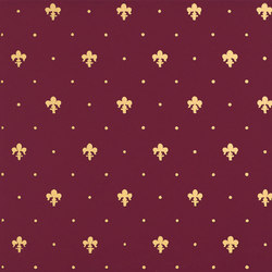 Grand Elegance Gold giglio oro su bordeaux | Azulejos de pared | Petracer's Ceramics