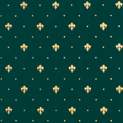 Grand Elegance Gold giglio oro su verde | Ceramic tiles | Petracer's Ceramics
