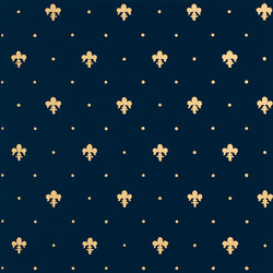 Grand Elegance Gold giglio oro su blu | Wall tiles | Petracer's Ceramics