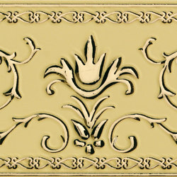 Grand Elegance Gold narciso A oro su crema | Azulejos de pared | Petracer's Ceramics