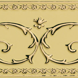 Grand Elegance Gold narciso B oro su crema | Azulejos de pared | Petracer's Ceramics