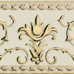 Grand Elegance Gold narciso A oro su panna | Carrelage céramique | Petracer's Ceramics