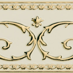 Grand Elegance Gold narciso B oro su panna | Azulejos de pared | Petracer's Ceramics