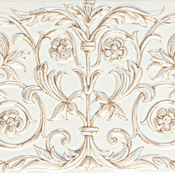Grand Elegance unicorni B su panna | Azulejos de pared | Petracer's Ceramics