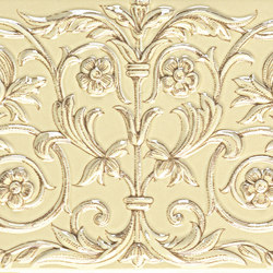 Grand Elegance unicorni B su crema | Azulejos de pared | Petracer's Ceramics