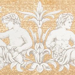Grand Elegance gemelli con cornucopia su panna A | Baldosas de cerámica | Petracer's Ceramics