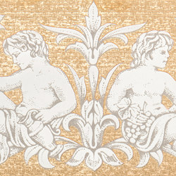 Grand Elegance gemelli con cornucopia su panna A | Keramik Fliesen | Petracer's Ceramics