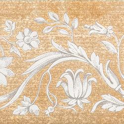 Grand Elegance gemelli con cornucopia su panna B | Baldosas de cerámica | Petracer's Ceramics