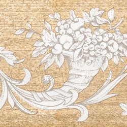 Grand Elegance gemelli con cornucopia su panna C | Baldosas | Petracer's Ceramics