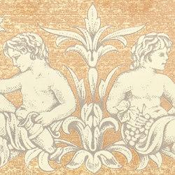 Grand Elegance gemelli con cornucopia su crema A | Piastrelle/mattonelle da pareti | Petracer's Ceramics