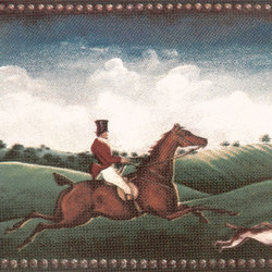 Grand Elegance country life fox hunting A | Wall tiles | Petracer's Ceramics