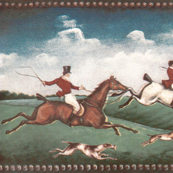 Grand Elegance country life fox hunting B | Wall tiles | Petracer's Ceramics