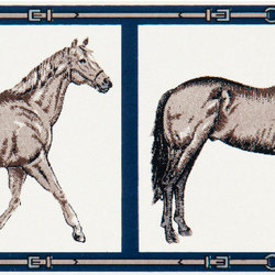 Grand Elegance country life horses A green | Ceramic tiles | Petracer's Ceramics