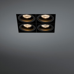 Mini multiple trimless 4x GU10 | Plafonniers encastrés | Modular Lighting Instruments