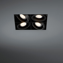 Mini multiple trimless 4x LED retrofit | Lampade soffitto incasso | Modular Lighting Instruments