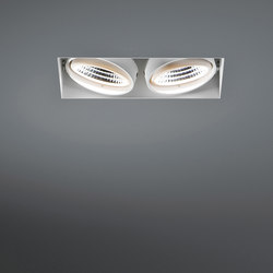 Mini multiple trimless 2x LED 1-10V/Pushdim RG | Strahler | Modular Lighting Instruments