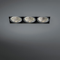 Mini multiple trimless 3x LED GE | Recessed ceiling lights | Modular Lighting Instruments