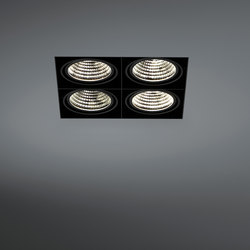 Mini multiple trimless 4x LED GE | Recessed ceiling lights | Modular Lighting Instruments