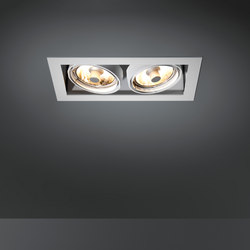 Multiple 2x CDM-R111 GE | Plafonniers encastrés | Modular Lighting Instruments