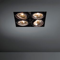 Multiple trimless 4x AR111 GE | Plafonniers encastrés | Modular Lighting Instruments