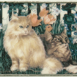 Grand Elegance country life cats su panna A | Wall tiles | Petracer's Ceramics