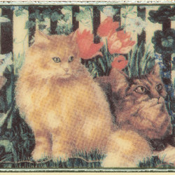 Grand Elegance country life cats su crema A | Ceramic tiles | Petracer's Ceramics