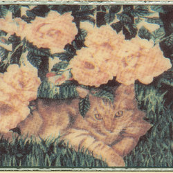 Grand Elegance country life cats su crema B | Ceramic tiles | Petracer's Ceramics